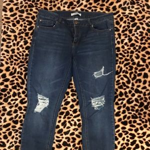Refuge skinny jeans distressed 10
